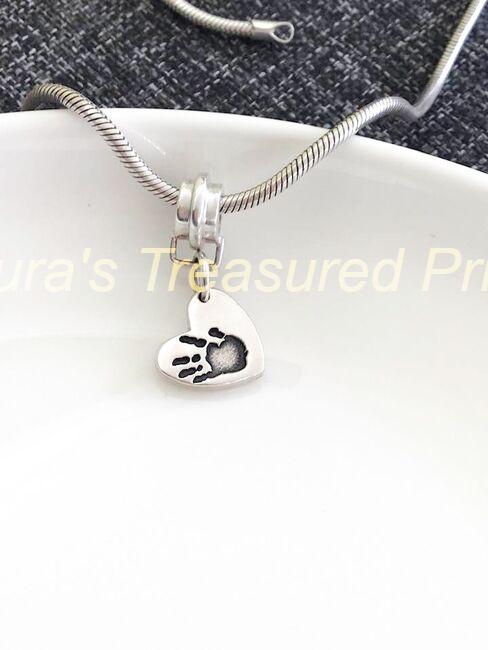Foundry cast silver bracelet charm carrier