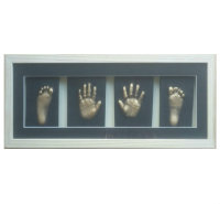 Framed 2D hand and foot print