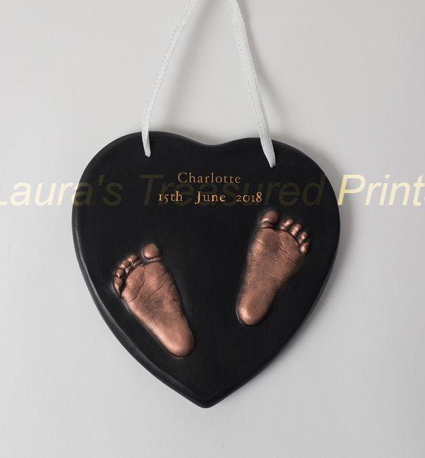 Two Little Feet 2D outprint plaque