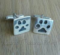 Dog Print Cufflinks