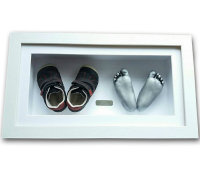 First Shoes and two foot casts- framed