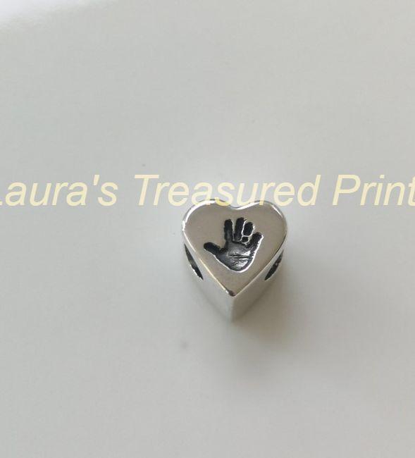 Hand or Footprint heart bead