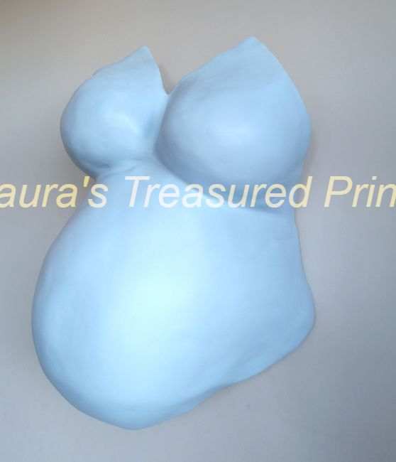 Baby blue deluxe bump and breast cast
