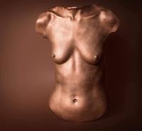 Finished upper torso body cast