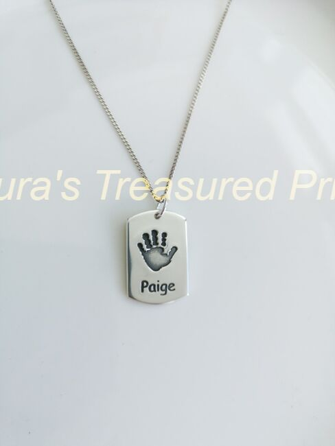 Foundry cast dog- tag silver pendant