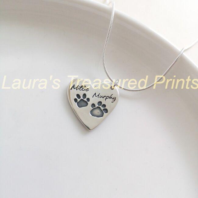 Dog Print pendant