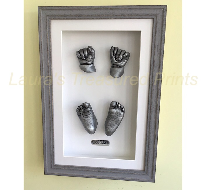 Full set of newborn framed baby casts