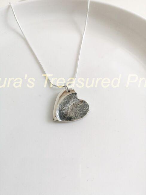 Fingerprint heart pendant