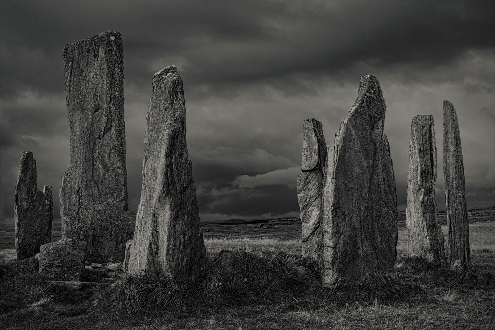 Group B - Second - Dark Clouds over the Callanish Stones - Jayne Hutchings