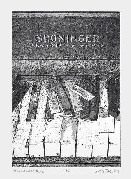 Abandoned Keys - 7 x 10 Intaglio Print (Non-Toxic) 2009