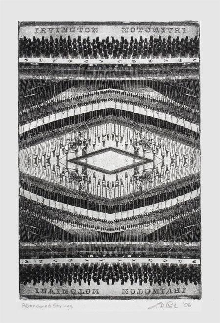 Abandoned Strings - 7 x10 Intaglio Print (Non-Toxic) 2006