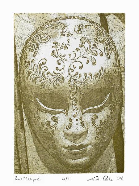 Bal Masque - 5 x 7 Intaglio Print (Non-Toxic) 2008