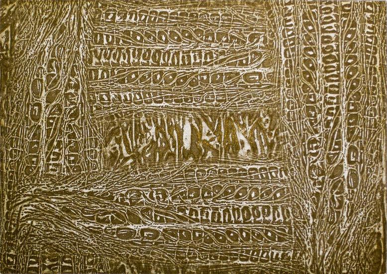 cornrows - intaglio print (non-toxic) 2009