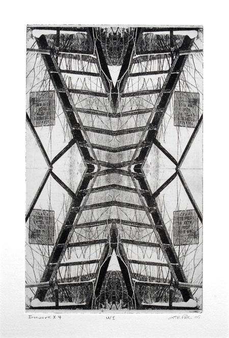 Ironwork x 4 - 8x13 Intaglio Print (Non-Toxic) 2005