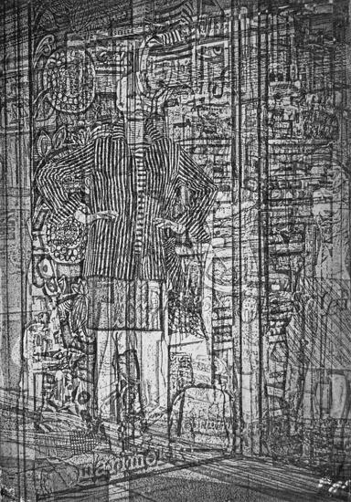 mannequins I - 10x14 intaglio print (non-toxic) 2009