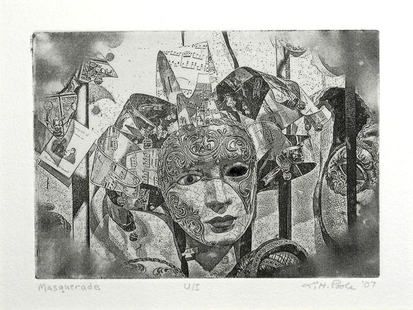 Masquerade - 5 x 7 Intaglio Print (Non-Toxic) 2007
