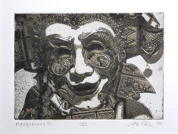 Masquerade II - 5 x 7 Intaglio Print using two plates (Non-Toxic) 2008