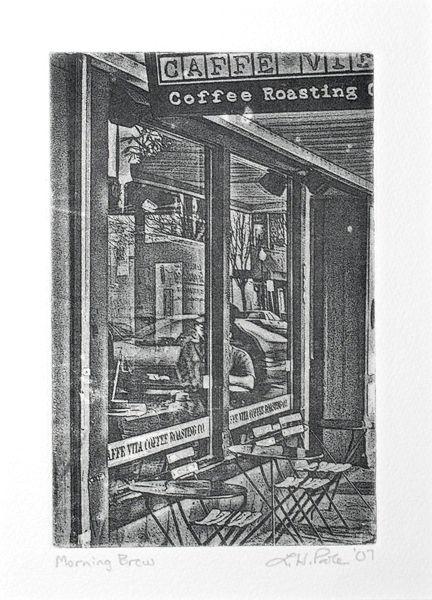 Morning Brew - 4 x 6 Intaglio Print (Non-Toxic) 2007