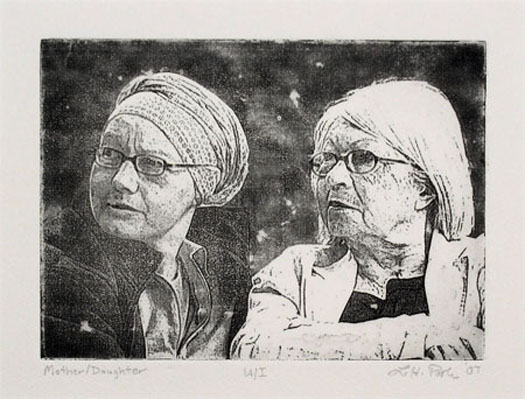 Mother/Daughter - 5 x 7 Intaglio Print (Non-Toxic) 2008