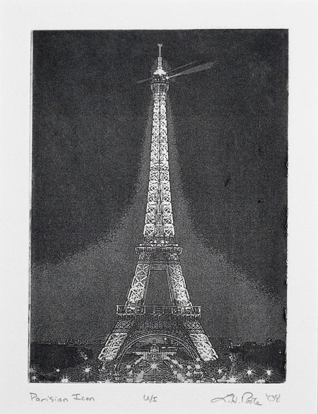 Parisian Icon - 5x7 Intaglio Print (Non-Toxic) 2008