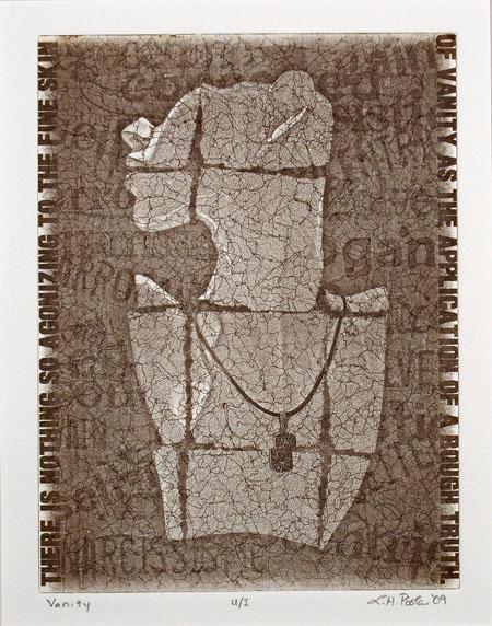 Vanity - 7x10 Intaglio Print (Non-Toxic) 2009