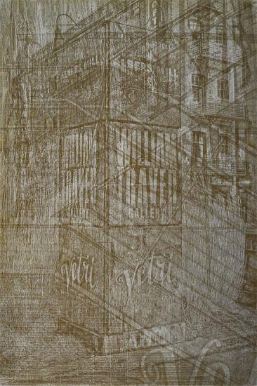 transformed - 10x15 intaglio print (non-toxic) 2012