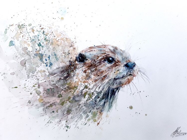 Otter painting