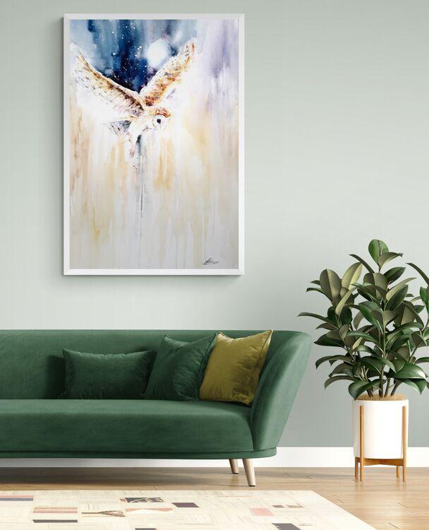 Barn owl Lisa Holmes artist