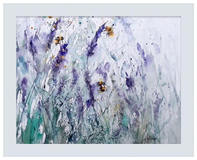 Bee lavender painting