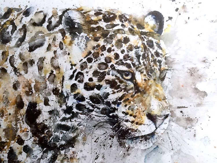 Big cat leopard painting