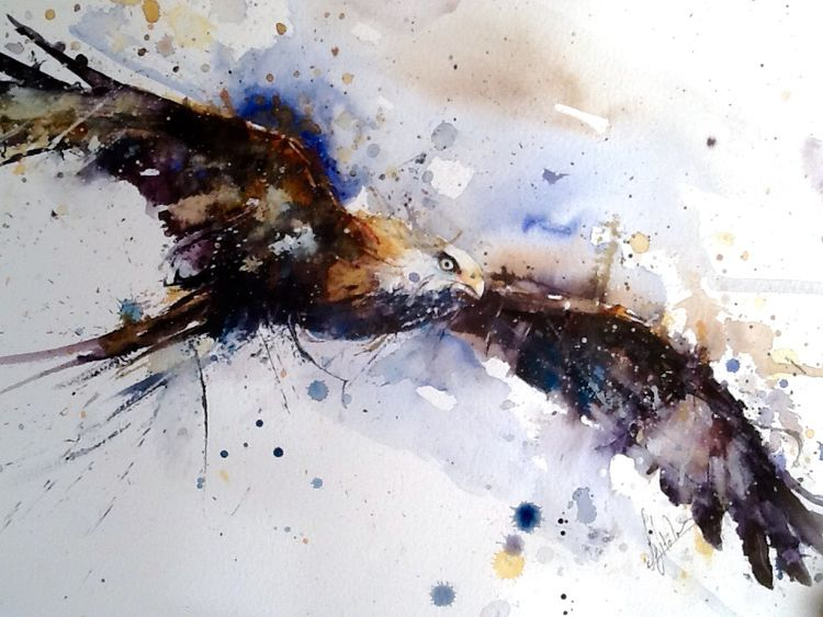 Hawk bird painting