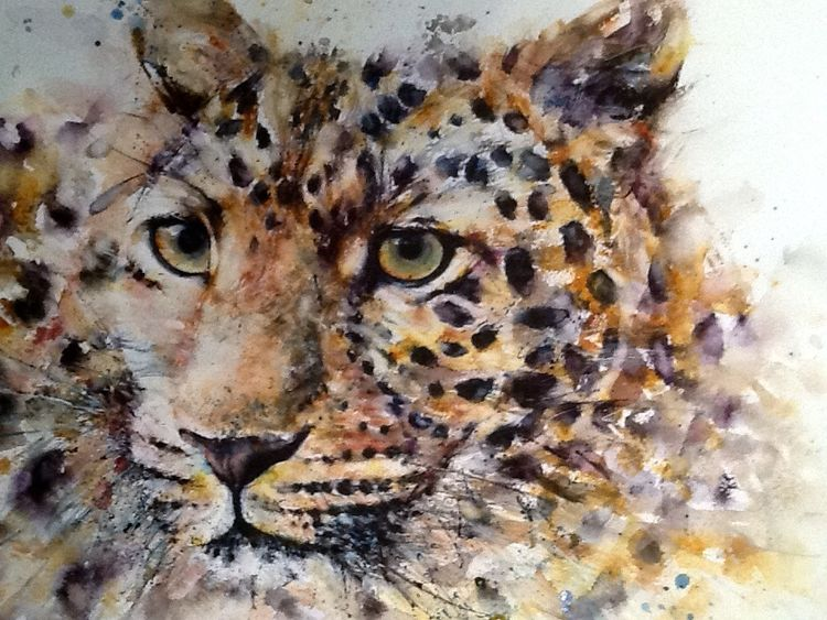 Leopard cat painting