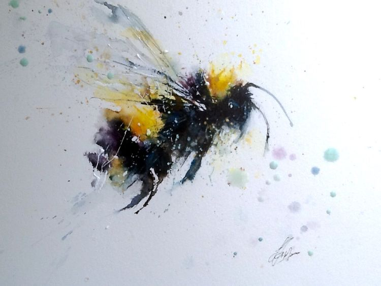 Little bee painting