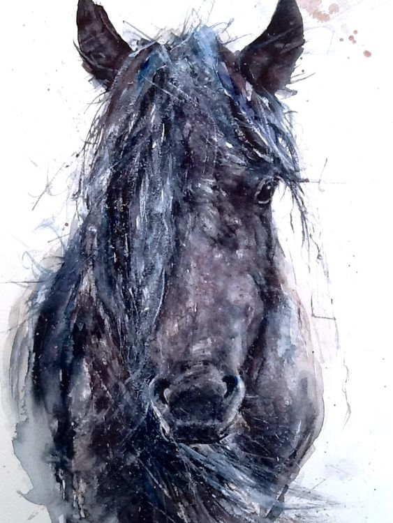 Wild horse painting