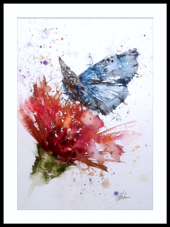 Blue butterfly SOLD