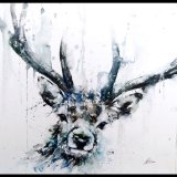 Bold stag deer antlers POA