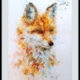 """ Fancy fox "" SOLD"