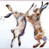 """ Every bunny was Kung fu fighting ""  SOLD PAINTING"