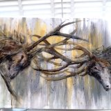Large canvas rutting stags - SORRY THIS IS NOW SOLD