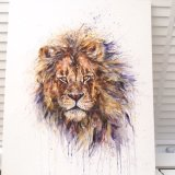 EXTRA Large acrylic on canvas. Lion