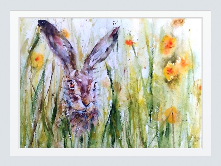 Hare in spring  SOLD