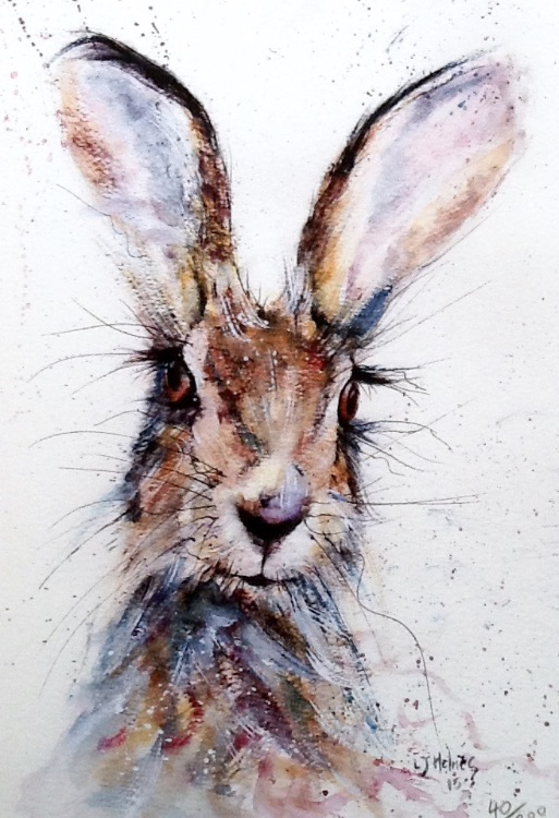 Cute hare painting