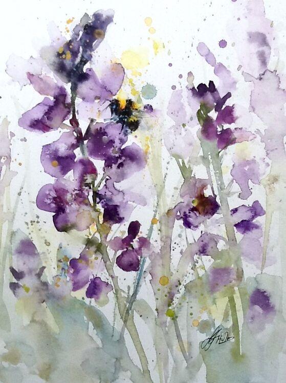 Lavender bees