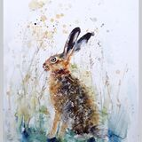Large A2 size hare Limited edition print  SOLD