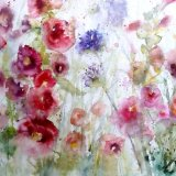 Hollyhocks SOLD
