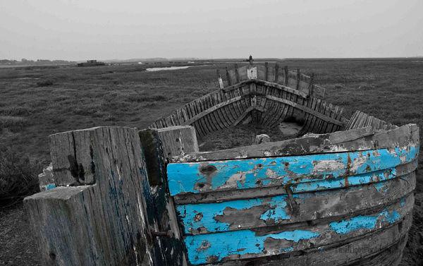 Blakeney Point, Deralict Boat