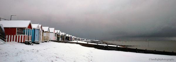 Snowy Thorpe Bay Beach.