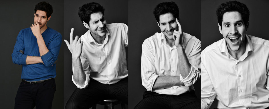 Actor character portfolio - Actor Ziad Abaza @ Identity Agency Group by London portrait photographer Zuzana Breznanikova