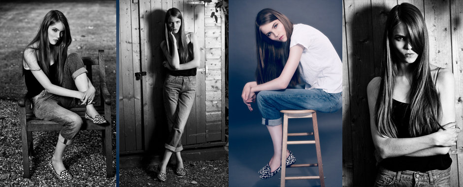 Female model portfolio - Clara of Nevs model agency