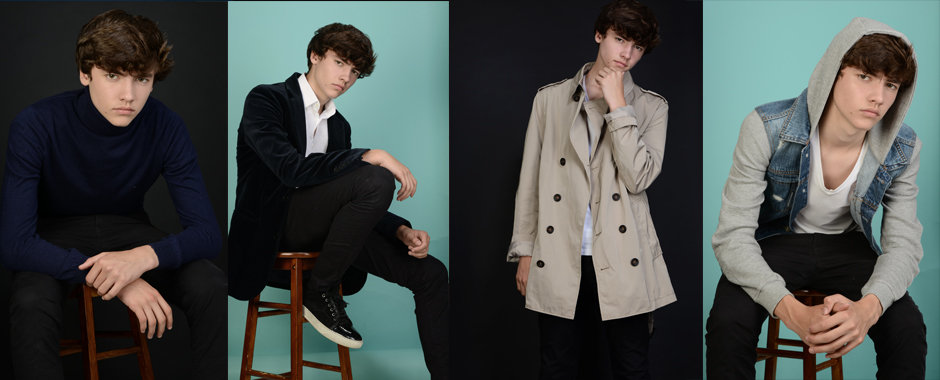 Model portfolio shoot of teen model Zac by London Photo Portfolios